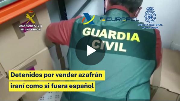 Desarticulada una red que vendía azafrán iraní como si fuera español